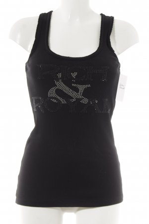 Rich & Royal Tanktop schwarz-silberfarben Street-Fashion-Look