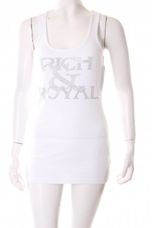 Rich & Royal Tanktop weiß Nude-Look