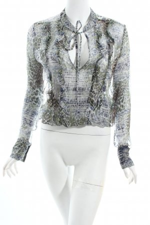 Rich & Royal Transparenz-Bluse Animalmuster extravaganter Stil