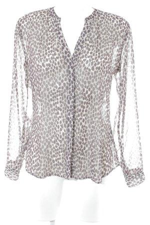 Rich & Royal Transparenz-Bluse Farbtupfermuster schlichter Stil
