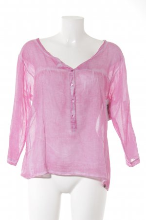 Rich & Royal Transparenz-Bluse pink Batikmuster Casual-Look