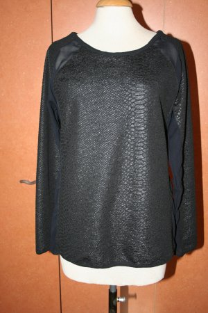 RICH & ROYAL TUNIKA SHIRT LONGSLEEVE SCHWARZ Gr. M 36/38 NEU