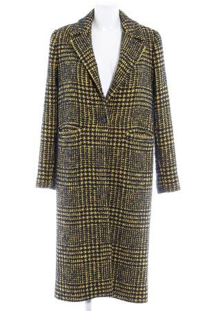 Rich & Royal Wintermantel dunkelblau-gelb Karomuster klassischer Stil