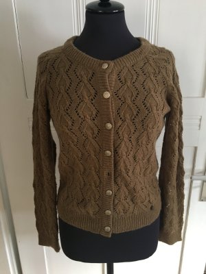 Rich & Royal Knitted Sweater brown wool