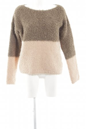 Rich & Royal Wollpullover braun-creme Casual-Look