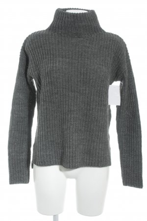 Rich & Royal Wollpullover dunkelgrau meliert Casual-Look