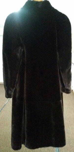 Cappotto in eco pelliccia marrone