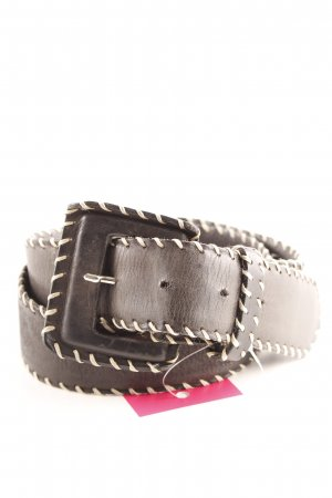 Richard Gampel Cintura di pelle nero-beige stile casual