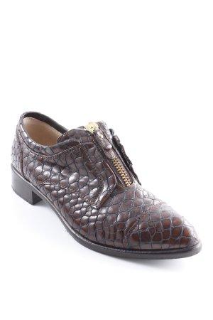 Richelieus Shoes dark brown reptile print