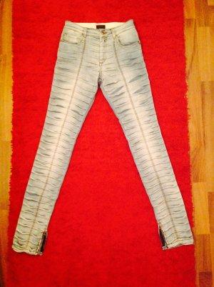 John Richmond Hoge taille jeans azuur Katoen