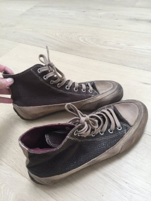 Candice Cooper Lace-Up Sneaker taupe
