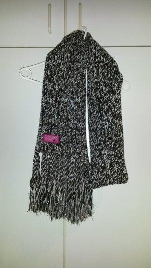 Richtig dicker und langer Esprit Schal in dunkelbraun-weiss