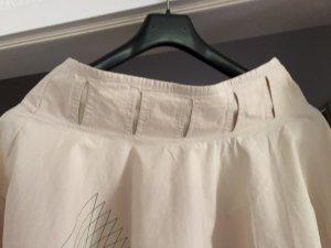 Skunkfunk Flared Skirt natural white cotton