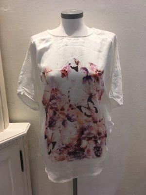 Rick Cardona Heine Shirt weiß rose nude rosa 36 S