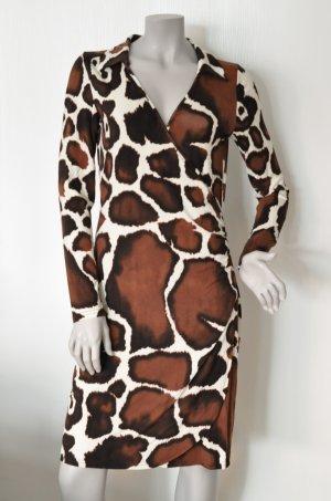 Rick Cardona Jersey Kleid in Wickeloptik Giraffenmuster Gr. 38 UNGETRAGEN