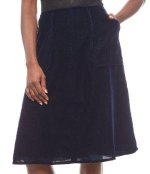 rick cardona Flared Skirt dark blue polyester