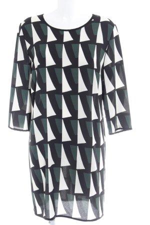 rick cardona Langarmkleid abstraktes Muster Elegant