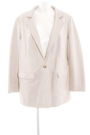 rick cardona Leather Blazer cream business style
