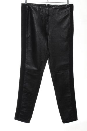 rick cardona Leather Trousers black casual look