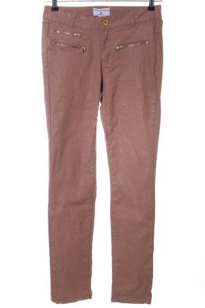 rick cardona Pantalon cigarette brun style décontracté