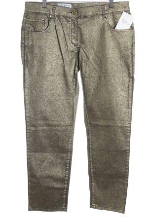 rick cardona Slim Jeans goldfarben-dunkelblau Metallic-Optik