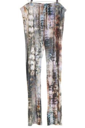 rick cardona Stoffhose abstraktes Muster Casual-Look