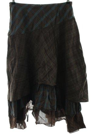 rick cardona Flounce Skirt blue-brown check pattern vintage look