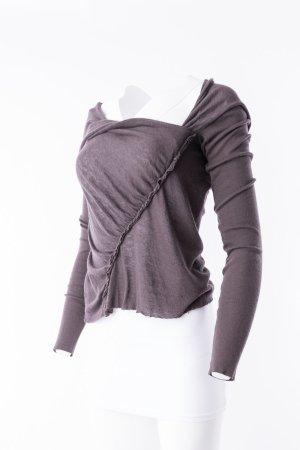 RICK OWENS - Asymmetrischer Pullover Dunkelbraun