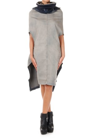 Rick Owens DRKSHDW Denim Shroud dress
