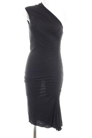 Rick owens One-Shoulder-Kleid schwarz extravaganter Stil