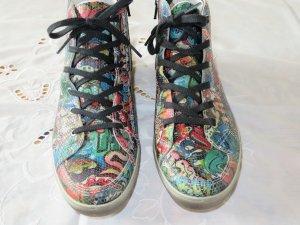 Ricosta Sneaker high im Graphitispraylook, neu, Größe 39.