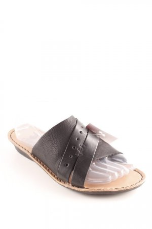 Rieker Heel Pantolettes black-light brown casual look