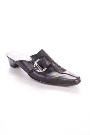 Rieker Absatz Pantoletten schwarz schlichter Stil