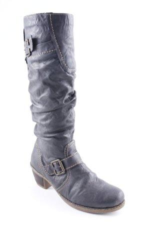 Rieker Absatz Stiefel dunkelbraun Casual-Look