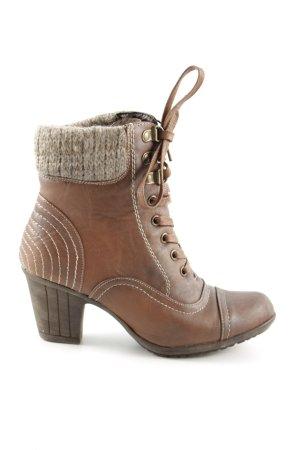 Rieker Absatz Stiefel bronzefarben-wollweiß Casual-Look