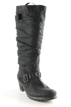 Rieker Absatz Stiefel schwarz Rockabilly-Look