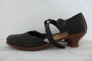 Rieker Antistress Sandalen Riemchen Schuhe Pumps schwarz Leder Gr. 39