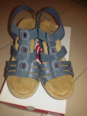 Rieker High-Heeled Sandals grey