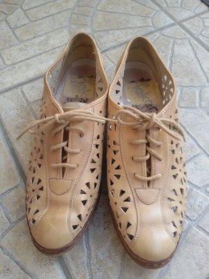 Rieker Chaussures à lacets crème