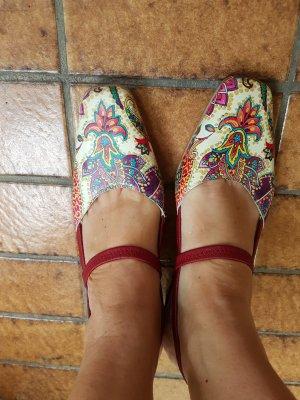 RIEKER bequem & schön,  bunter Echtlederslingback mit kleinem Stöckel #Antistress für Fuß/Beine/Gelenke D 41-D41.5