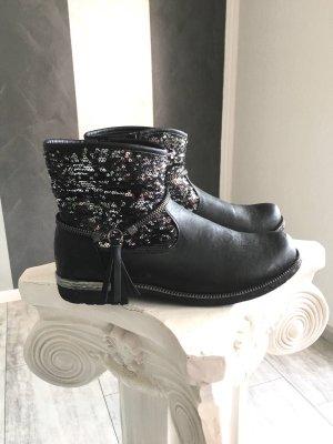 Rieker - Boots/ Stiefelette mit Pailetten Gr. 39