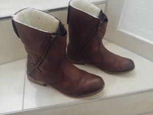 Rieker Bottes de neige brun foncé faux cuir
