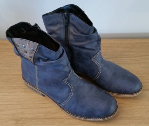 Rieker Damen Halbschaftstiefel blau (Denim/Dust) Gr. 40