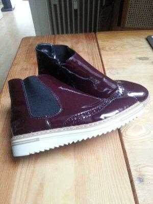 Rieker Chelsea Boots dark violet-blackberry-red imitation leather