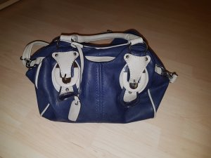 rieker handtasche blau/beige