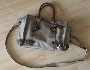 RIEKER Handtasche mit Schultergurt - taupe/schlamm - wie neu