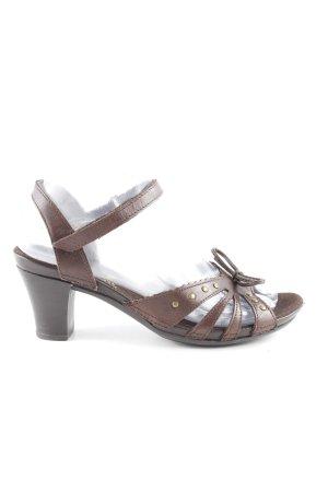 Rieker High Heel Sandaletten dunkelbraun Elegant