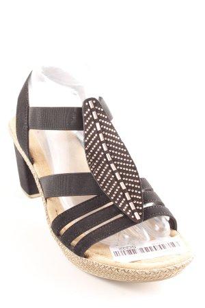Rieker High Heel Sandaletten mehrfarbig Casual-Look