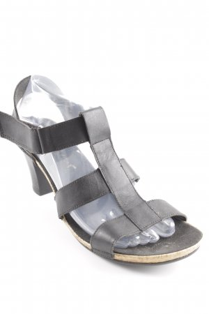 Rieker High Heel Sandal black-beige casual look