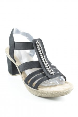 Rieker High Heel Sandal black casual look